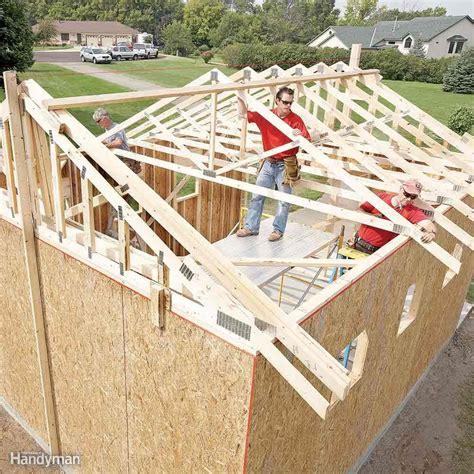 diy shed building tips  family handyman
