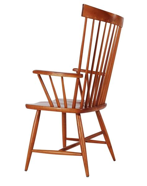 pennsylvania house cherry spindle back dining room chairs set of six mid century modern windsor tall spindle back