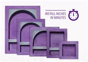 Tile niche recess bathroom it recessed shower shampoo shelf ebay