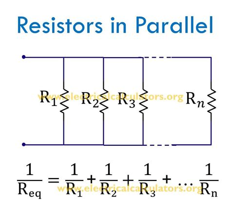 formula for parallel resistors parallel resistor calculator