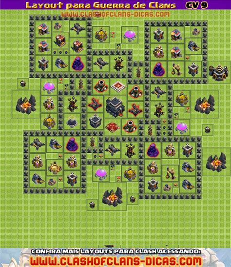 layout para cv 9 layouts cv9 para a guerra de clans clash of clans dicas