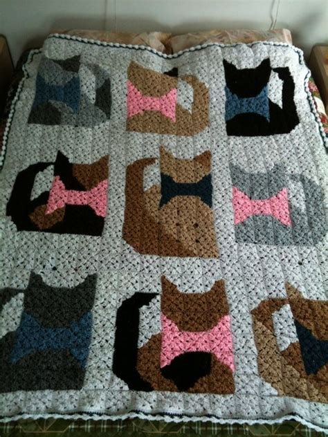 pattern for cat afghan pinterest the world s catalog of ideas