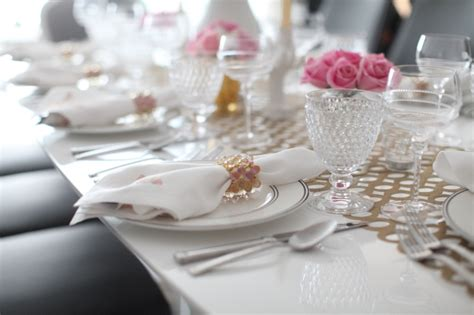 pink table settings create a perfectly pink tablescape fashionable hostess