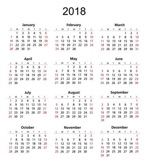 Calendar 2018 Photos 2018 Calendar Template Free Stock Photo Domain