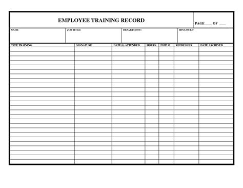 employee training checklist template excel the benefits
