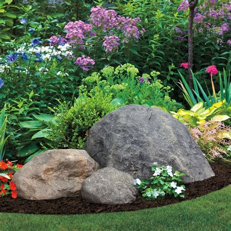 Garden Decor With Stones Decor Garden Rock Large Artificial Rocks Landscape Yard Boulder Cover Ebay