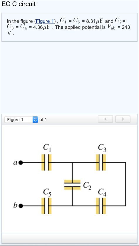 calculate capacitor q what is the equivalent capacitance of the network chegg