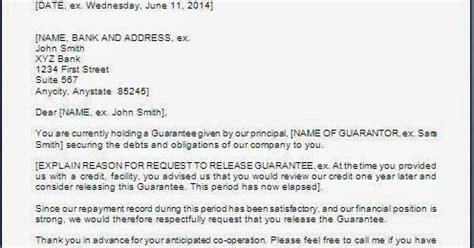 Release Of Personal Guarantee Letter Every Bit Of Personal Guarantee Release Letter
