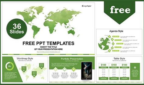 Free Green Concept Powerpoint Templates Design Green It Concept Ppt