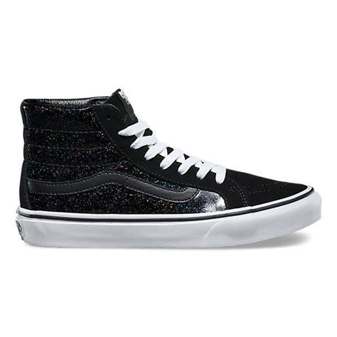 patent galaxy sk8 hi slim shop shoes at vans