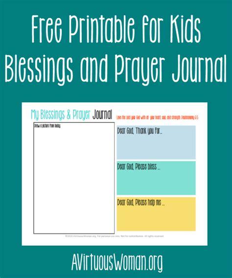 printable children s prayer journal free printable blessings and prayer journal for kids