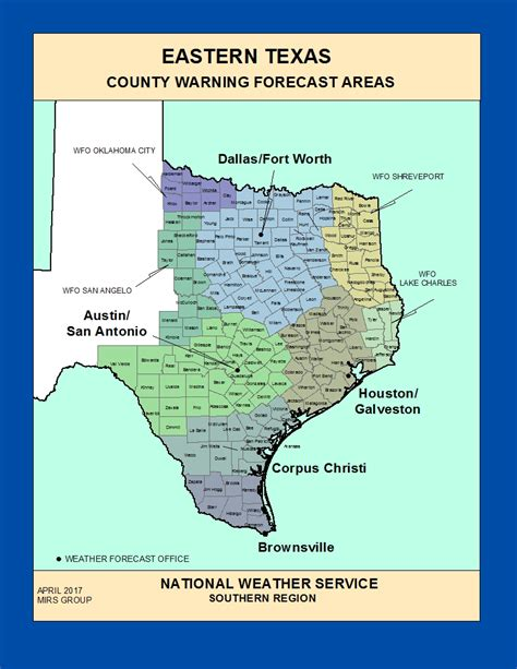 east texas map maps east texas county warning forecast areas