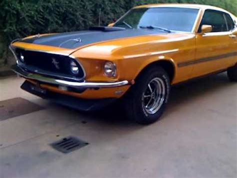 1969 ford mustang mach 1 351 windsor v8 youtube