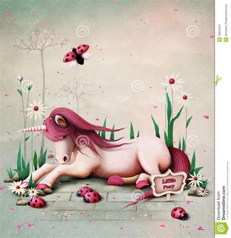 unicorn fairy tale illustrations pony unicorn stock illustration image 49634431
