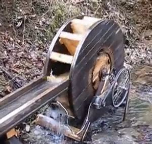 water wheel generator homemadetools net