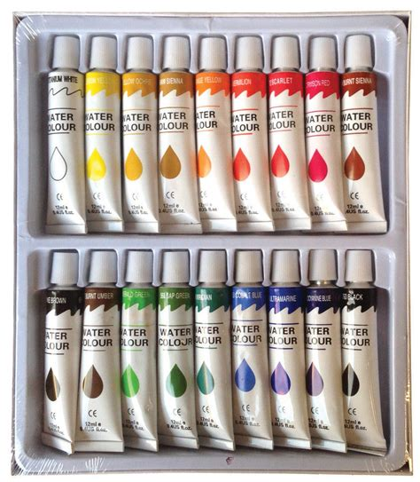 18 pc watercolor paints set professional artist painting pigment 12ml ebay