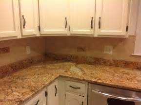 pictures of kitchen countertops and backsplashes mac s before after solarius granite countertop
