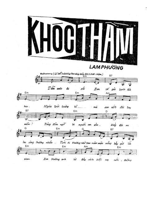 SHEET MUSIC FREE - Sheet PIANO FOR YOU ~ KHÓC THẦM