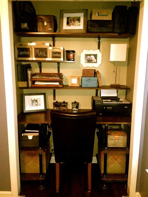 closet desk closet desk pipe desk for the home pinterest desks pipes and pipe desk