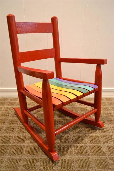 kid size rainbow rocking chair lansdowne life