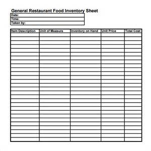 restaurant inventory spreadsheet template free restaurant inventory sheet template search