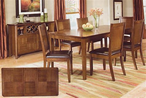 walnut finish dining room set casual dinette sets