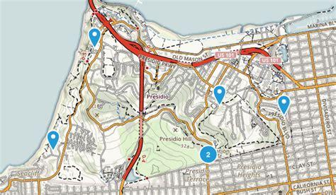 san francisco map presidio best trails in presidio of san francisco california