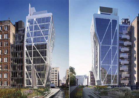 Hi Line Sheds by High Line 23 Brings New Green Tower To Chelsea Skyline