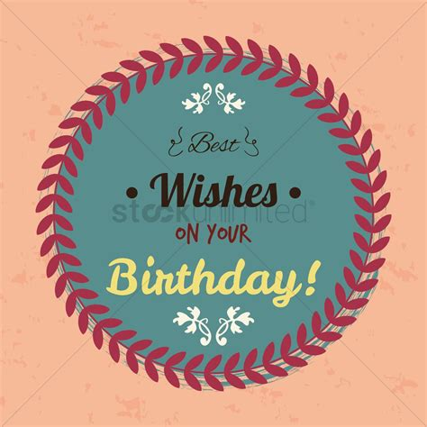 best wishes birthday best wishes on your birthday label vector image 1827413
