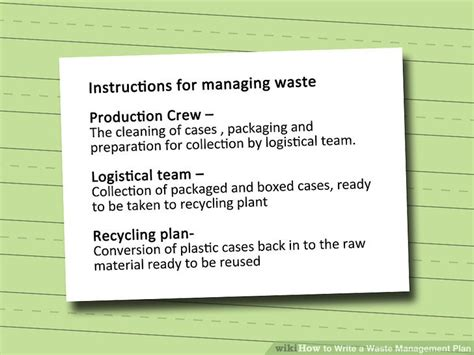 waste management strategy template image collections