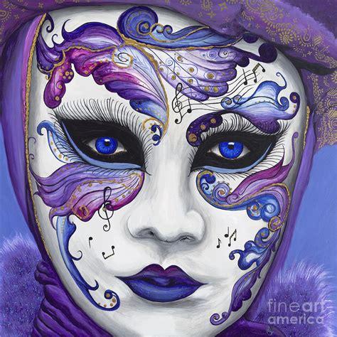 purple carnival mask painting by patty vicknair