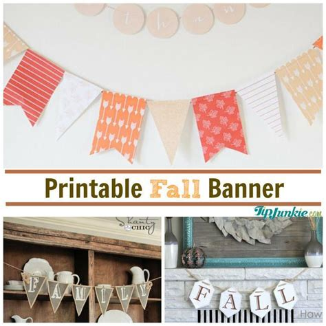 printable fall banner 13 diy fall bunting for fabulous decorating tip junkie