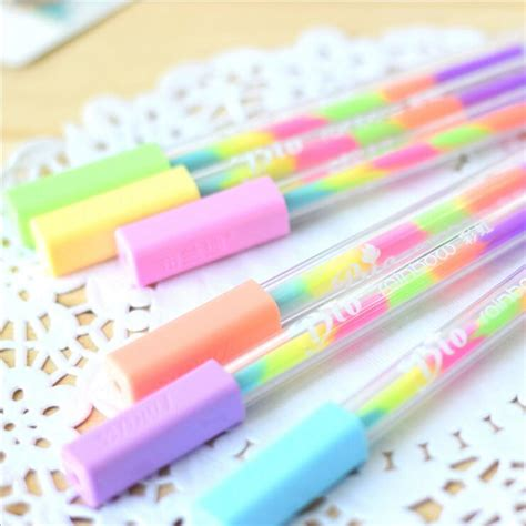 4 Pcs Lovely Cat Gel Pen 0 5mm 窶 1 pc diy swirl rainbow 竭 gel gel pen rainbow