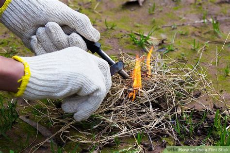 how to use flint how to use a flint stick 5 steps with pictures wikihow