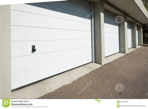 White Garage Doors by White Garage Doors With Knob Stock Photo Image 64181345