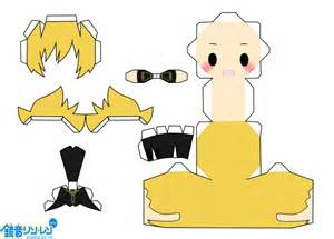 origami len anime paper craft vocaloid