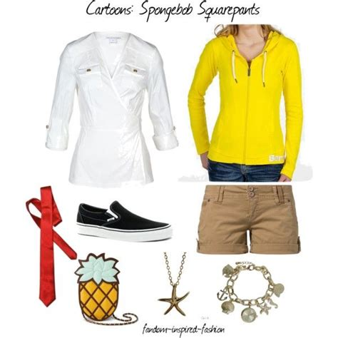 Dress Spongebob Squarepants quot spongebob squarepants inspired quot by fandom inspired fashion on polyvore white shirt with
