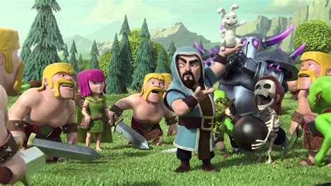 Clash Of Clan Wizard With Rabbit clash of clans quot magic quot bunny throwing wizard trailer