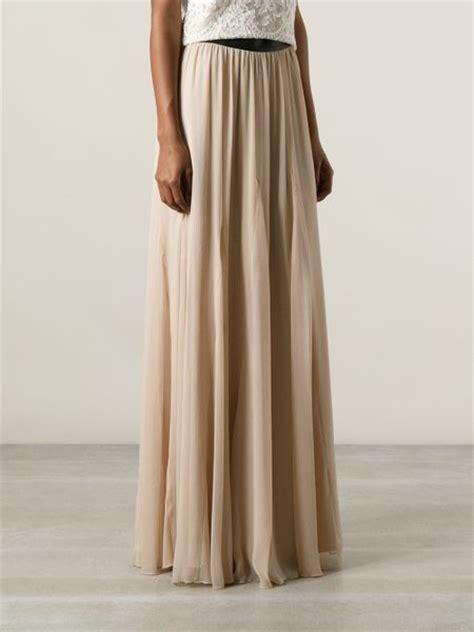 maxi skirt in beige neutrals lyst