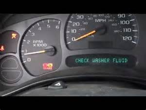 Service Brake System Light Chevy Tahoe 2004 Chevy Silverado Service Air Bag Message Troubleshoot