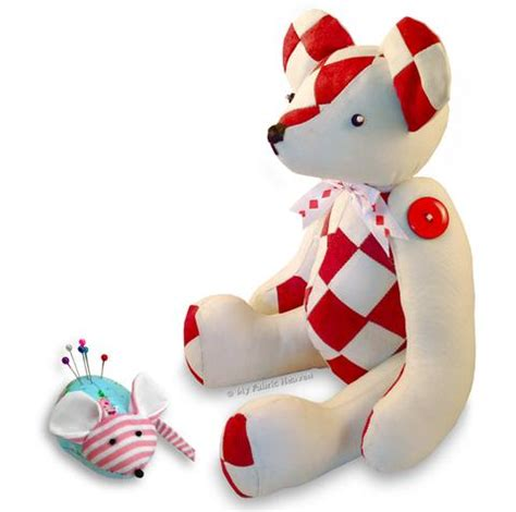 2 x printed sewing patterns harley patchwork teddy and