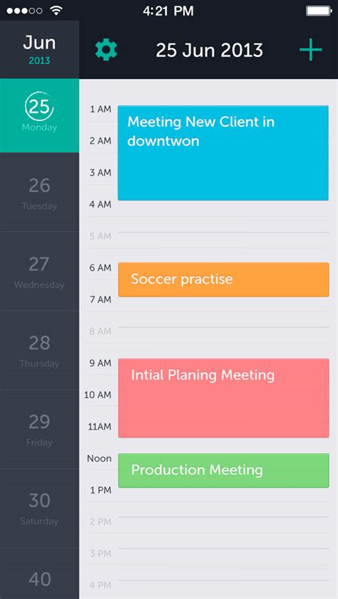 design calendar schedule 20 mobile user interface design for your inspiration