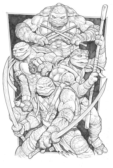 teenage mutant ninja turtles movie coloring pages teenage mutant ninja turtles by rubusthebarbarian on