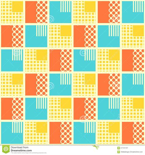 design pattern wrap object abstract seamless pattern with geometrical objects stock