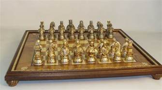chess set camelot pewter chess set