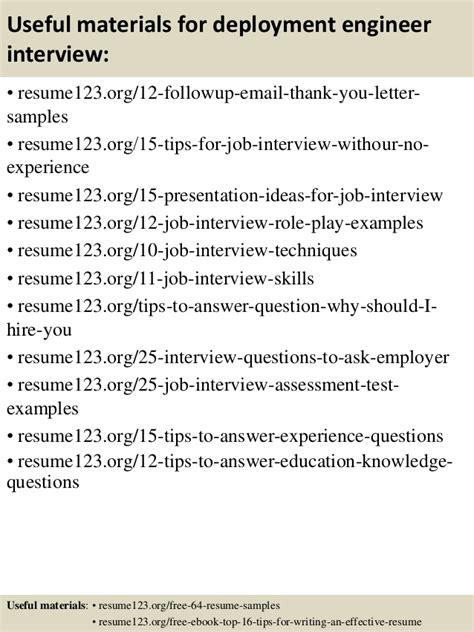 deployment engineer resume resume ideas