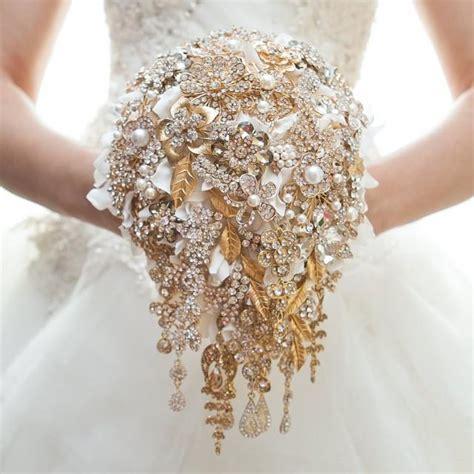 Handbouquet Goldwhite gold brooch bouquet wedding bouquet bridal bouquet bridesmaids bouquet wedding decor brooch
