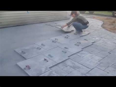 youtube pattern concrete how to st concrete patio using ashlar slate pattern