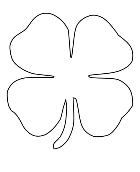four leaf coloring page four leaf clovers colouring pages cliparts co