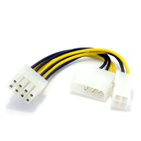 Kr06120 Serial Rs232 To 3 Way Gpu Connector 2 pack 4 pin atx 4 pin lp4 molex to 8 pin eps power